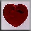 13048 Large Heart Siam Crystal Treasure