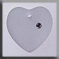 13050 Large Frosted Heart Crystal Crystal Treasure