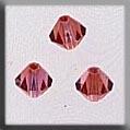 13062 Rondele Champagne Rose Crystal Treasure