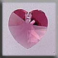 Small Rose Heart crystal treasure