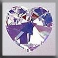 13045 Medium Heart - Crystal Aurora Borealis (AB)