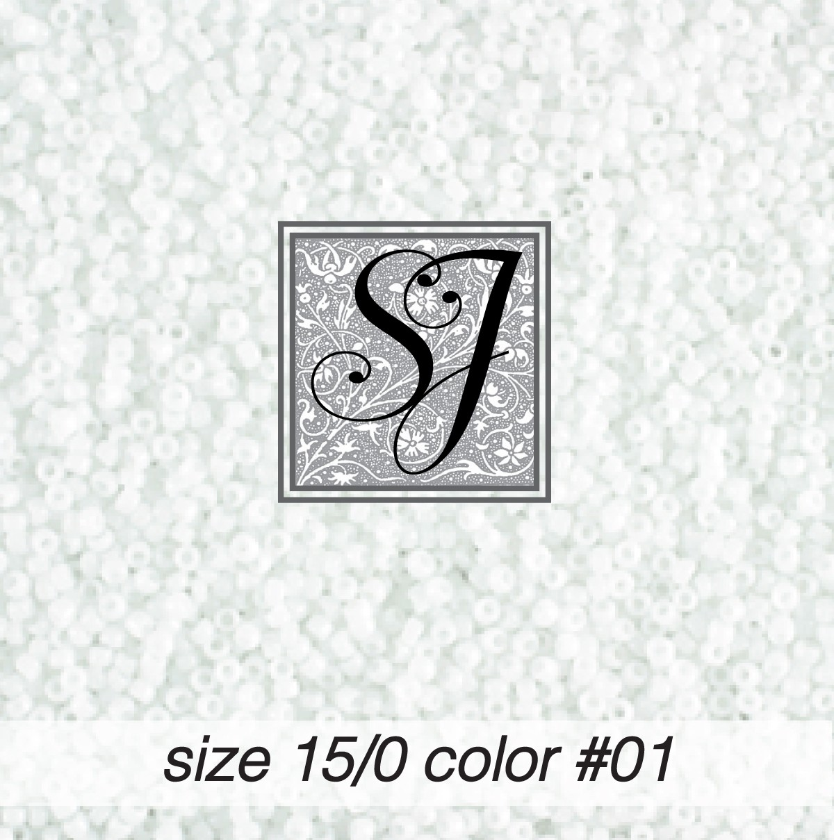 01 White Opaque 15/0 Seed Bead