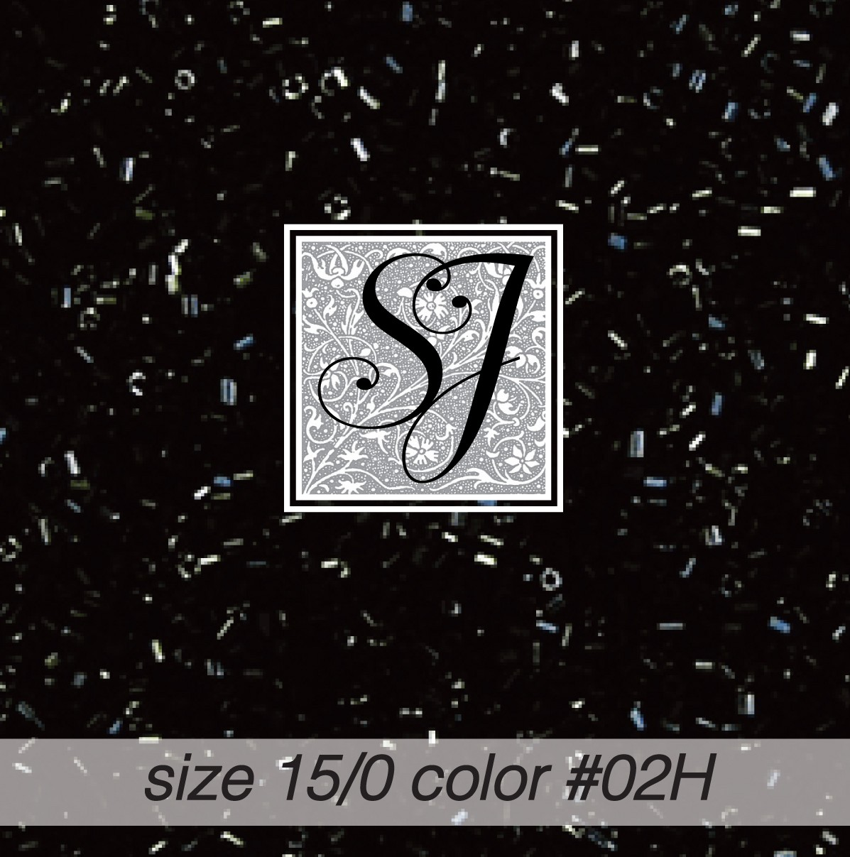 02H Black Opaque Hex-Cut 15/0 Seed Bead