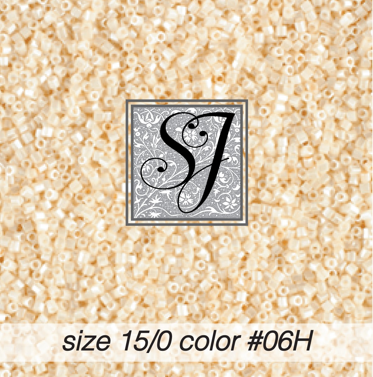 06H Crème Pearl Hex-Cut 15/0 Seed Bead
