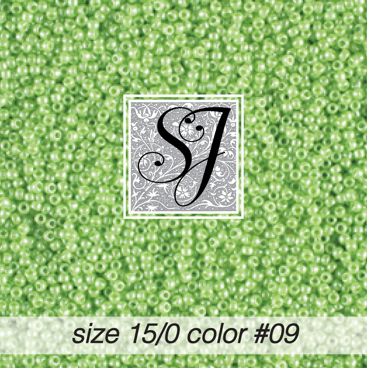 09 Leaf Green Pearl 15/0 Seed Bead