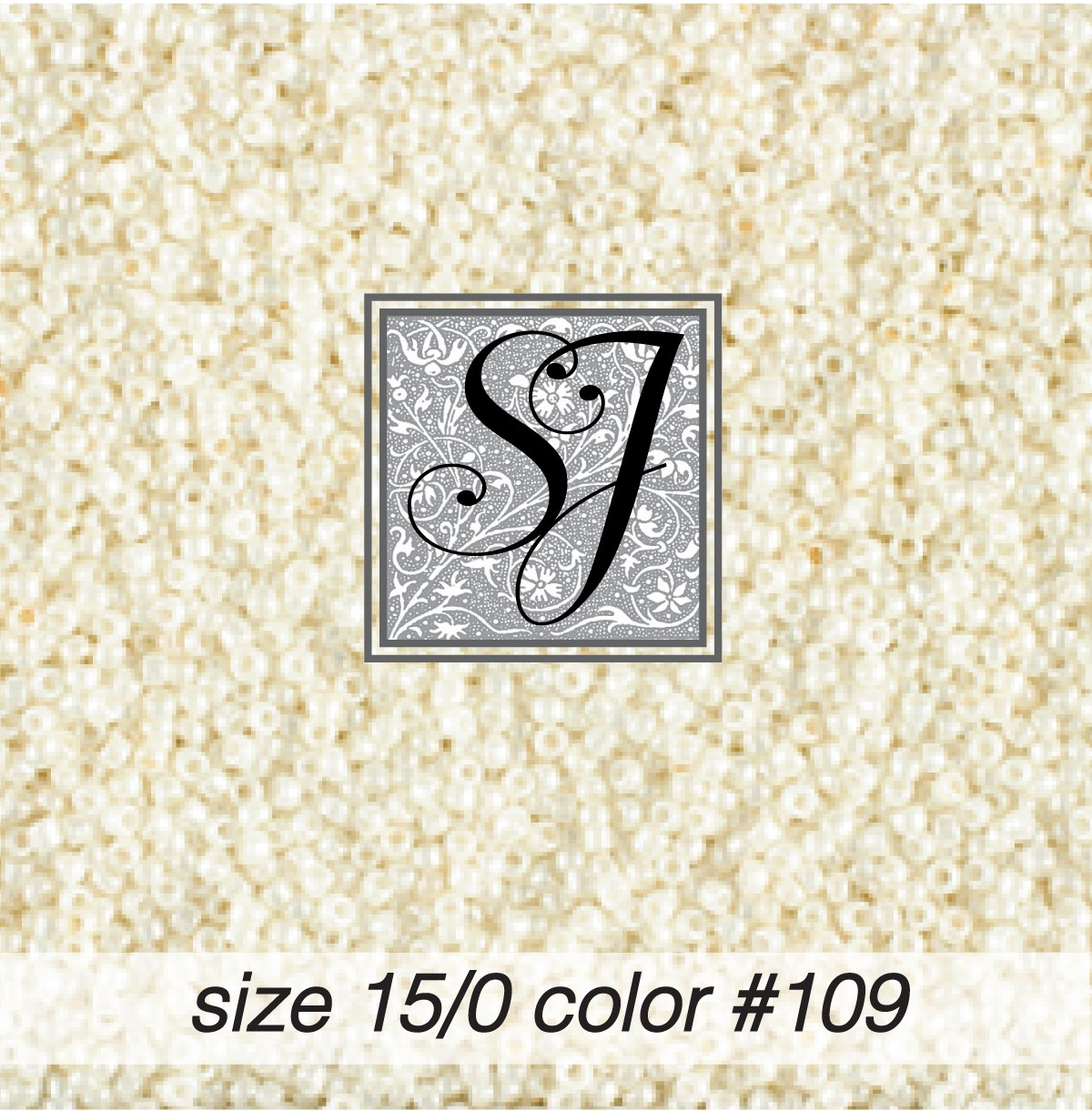 109 Antique White Pearl 15/0 Seed Bead