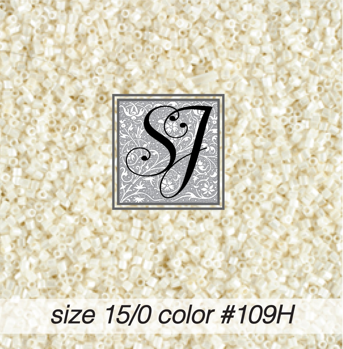 109H Antique White Pearl Hex-C 15/0 Seed Bead