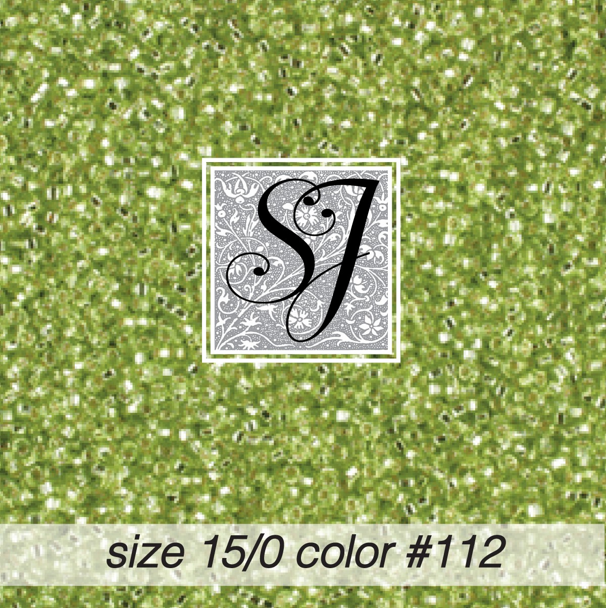 112 Lime Silver Lined 15/0 Seed Bead