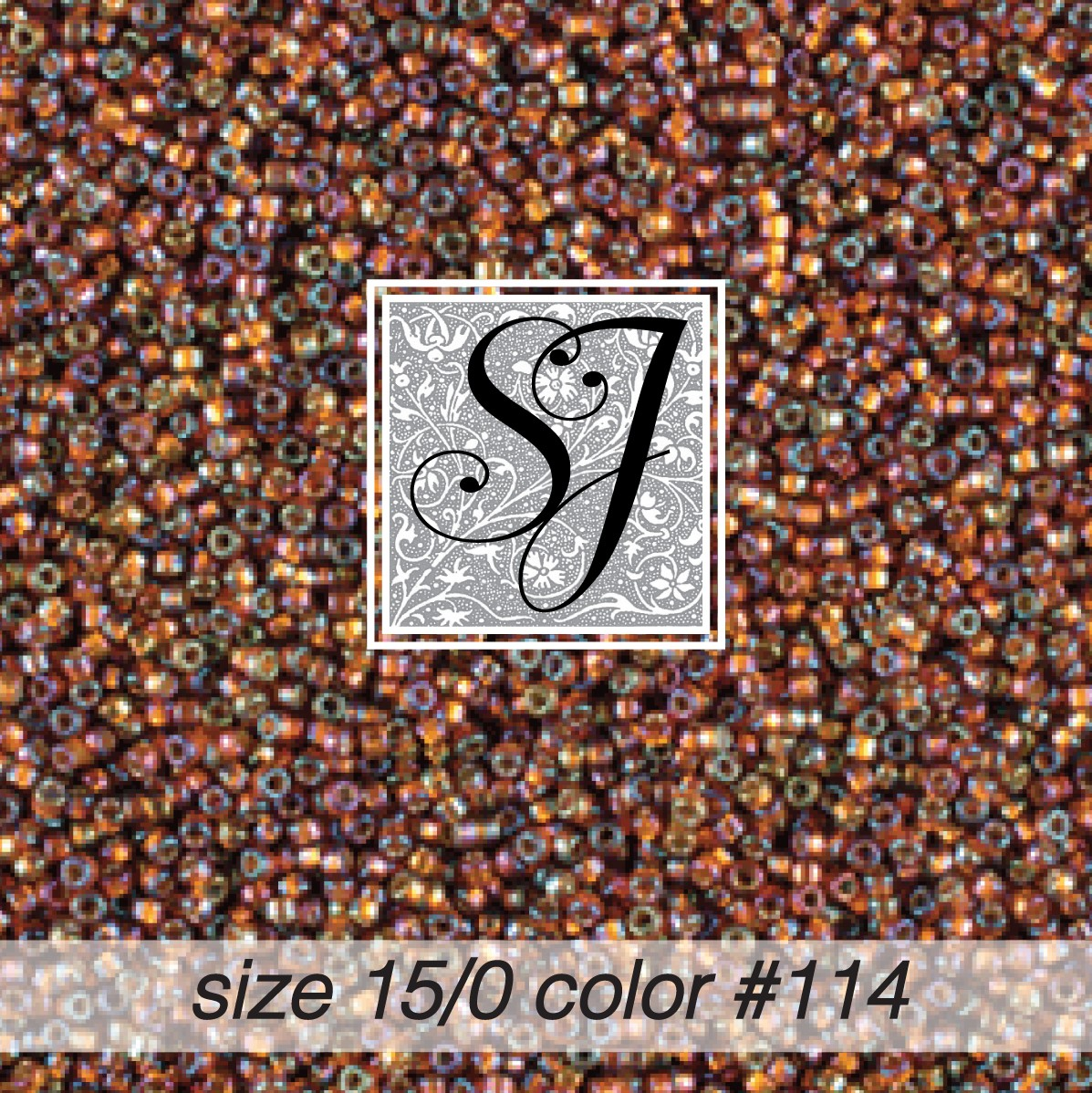 114 Bronze Irridescent S/L 15/0 Seed Bead