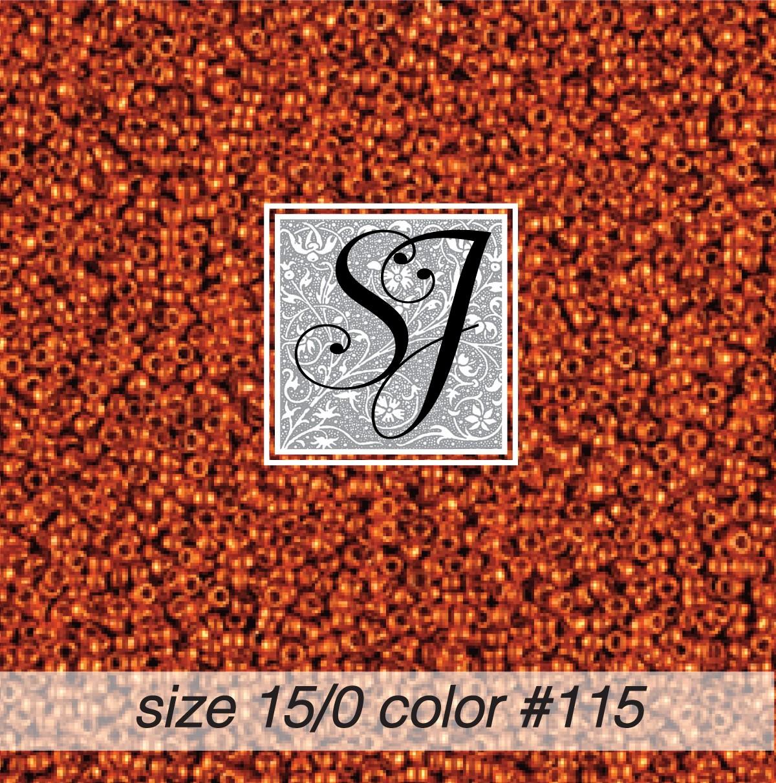 115 Bittersweet 15/0 Seed Bead