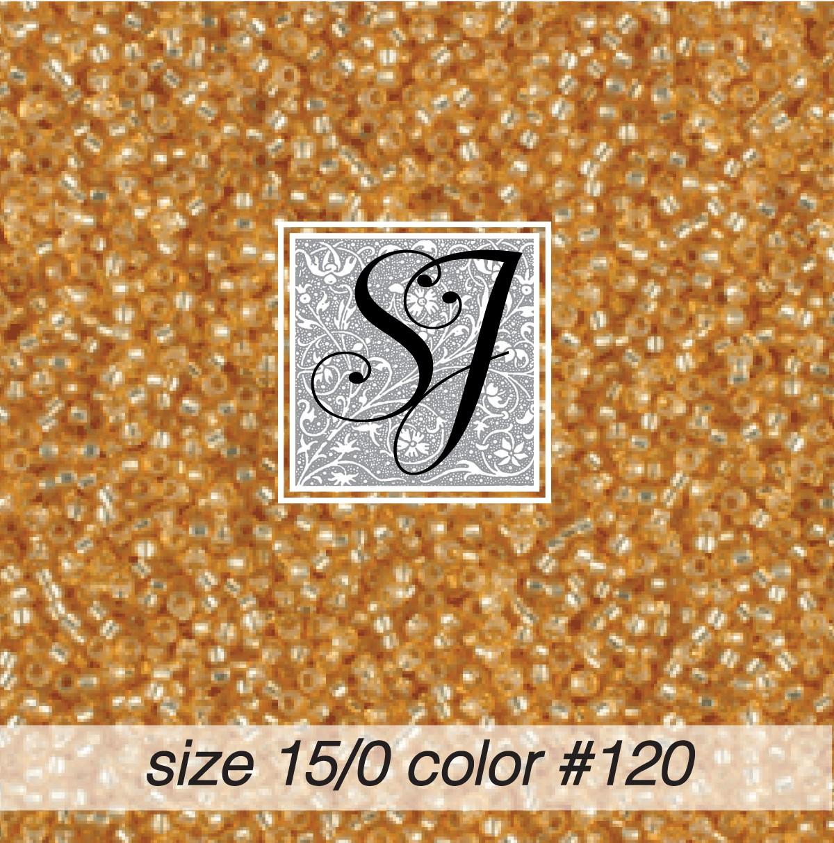 120 Straw Alabaster S/L 15/0 Seed Bead