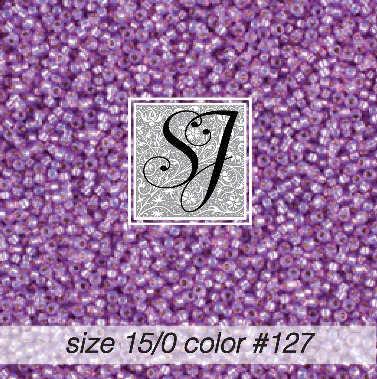 127 Parma Violet Alabaster S/L 15/0 Seed Bead