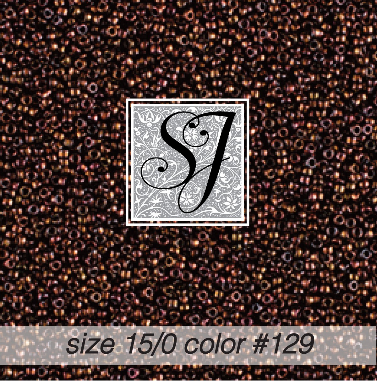 129 Dark Copper 15/0 Seed Bead