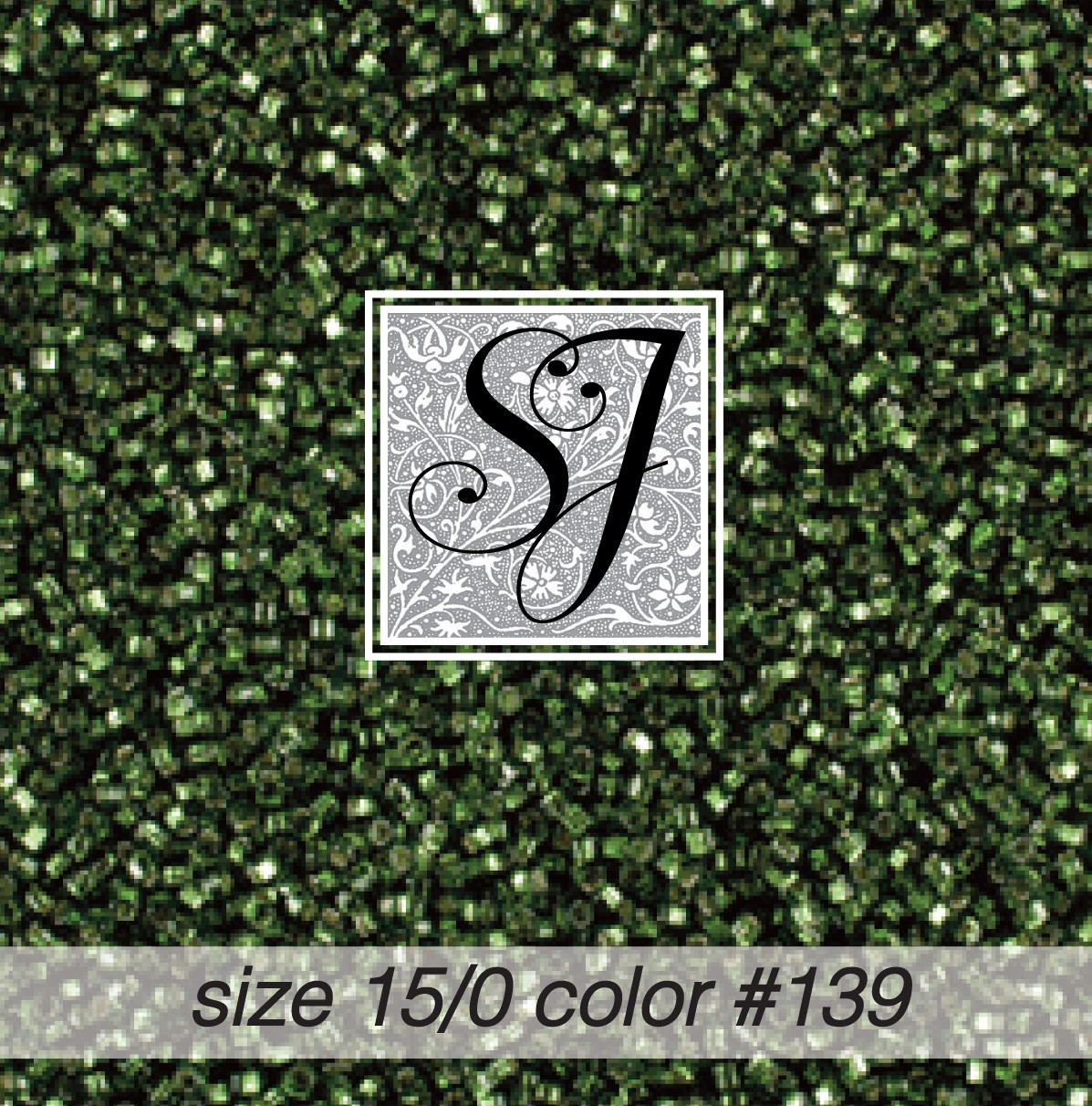 139 Ivy Green Silver Lined 15/0 Seed Bead