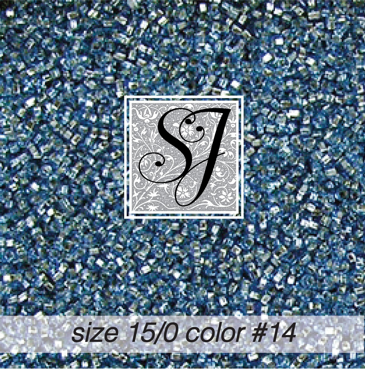 14 Antique Blue Silver Lined 15/0 Seed Bead
