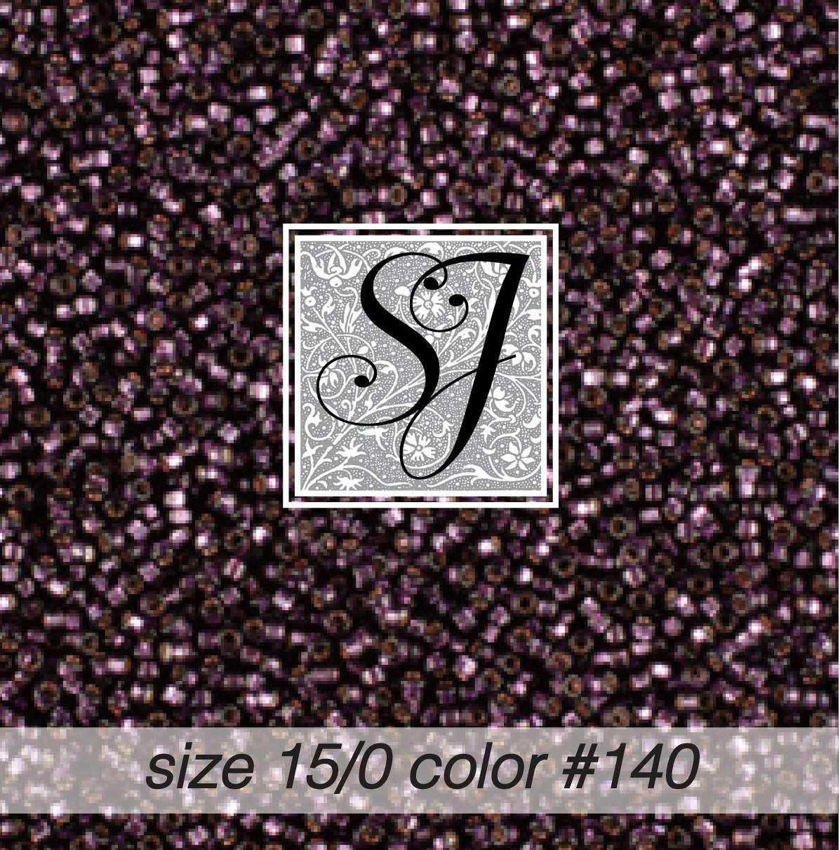 140 Eggplant Silver Lined 15/0 Seed Bead