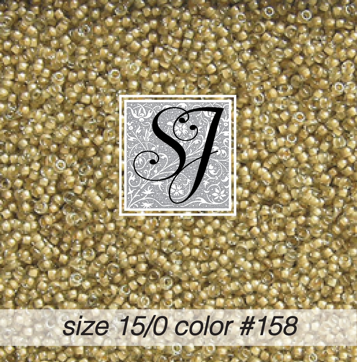 158 Crystal Ecru Colour Lined 15/0 Seed Bead