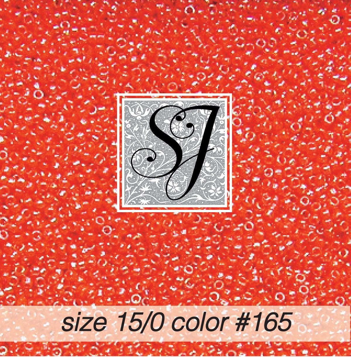 165 Persimmon Pearl 15/0 Seed Bead