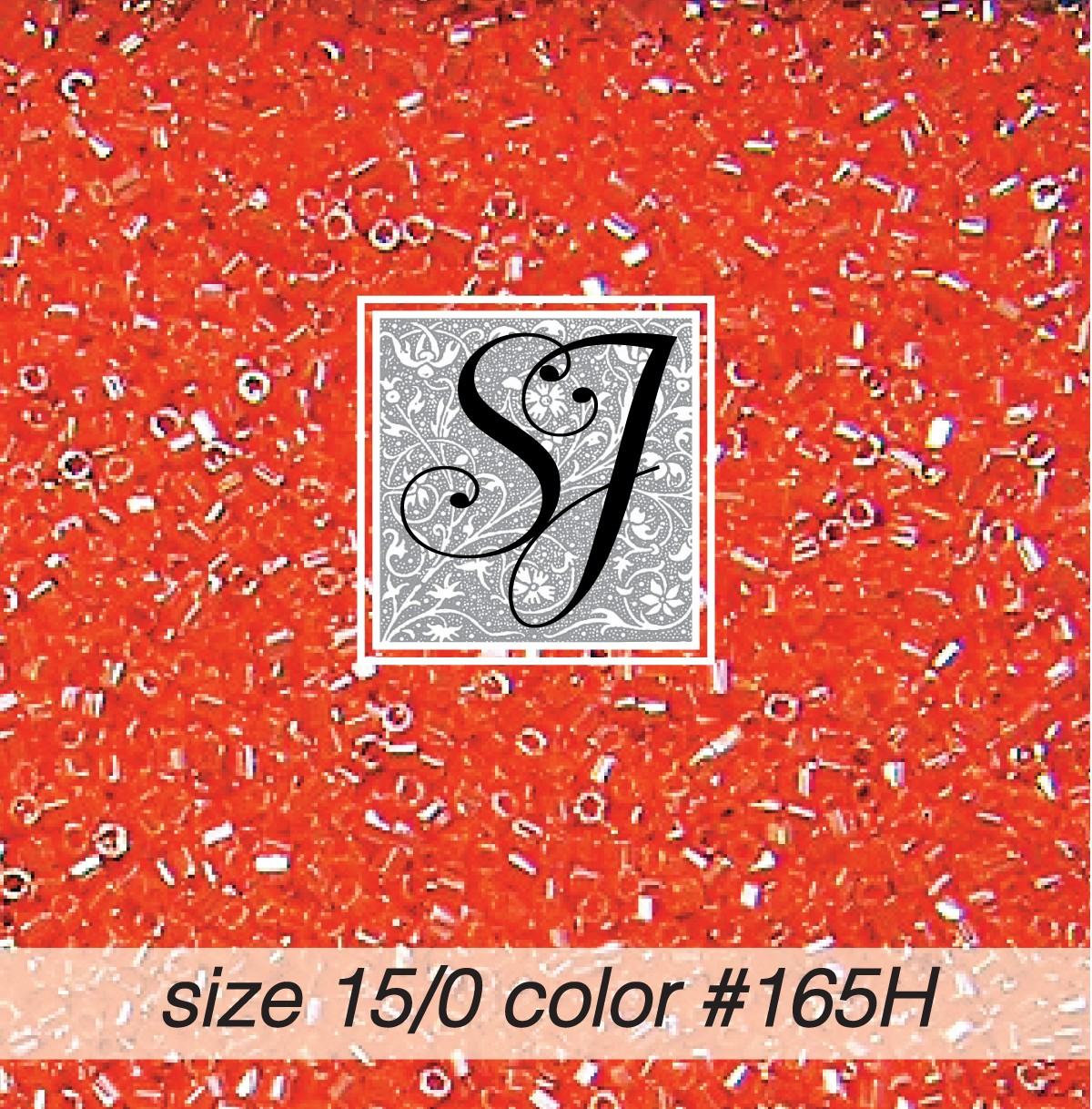 165H Persimmon Pearl Hex-Cut 15/0 Seed Bead