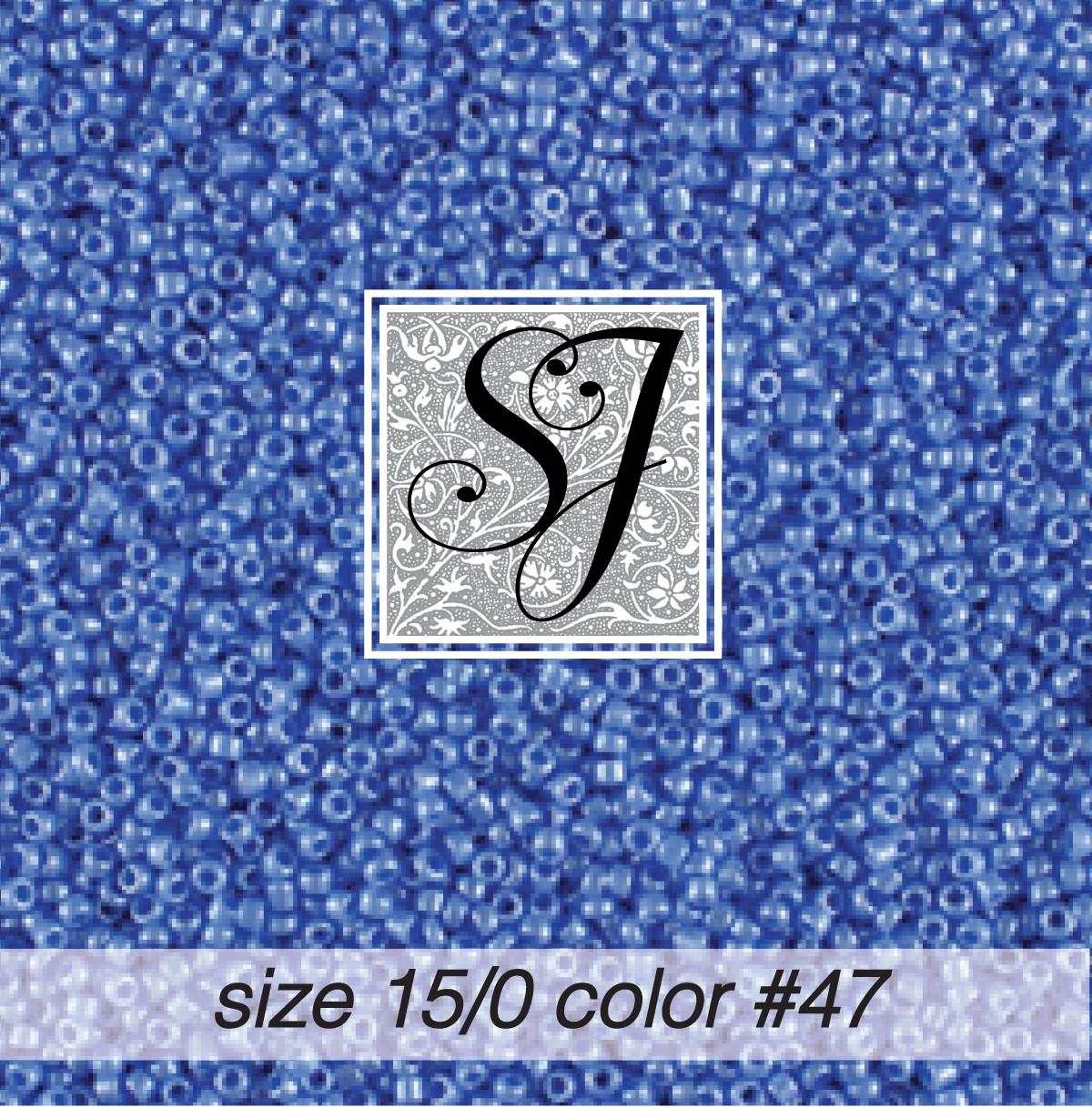 47 Light Periwinkle Pearl 15/0 Seed Bead