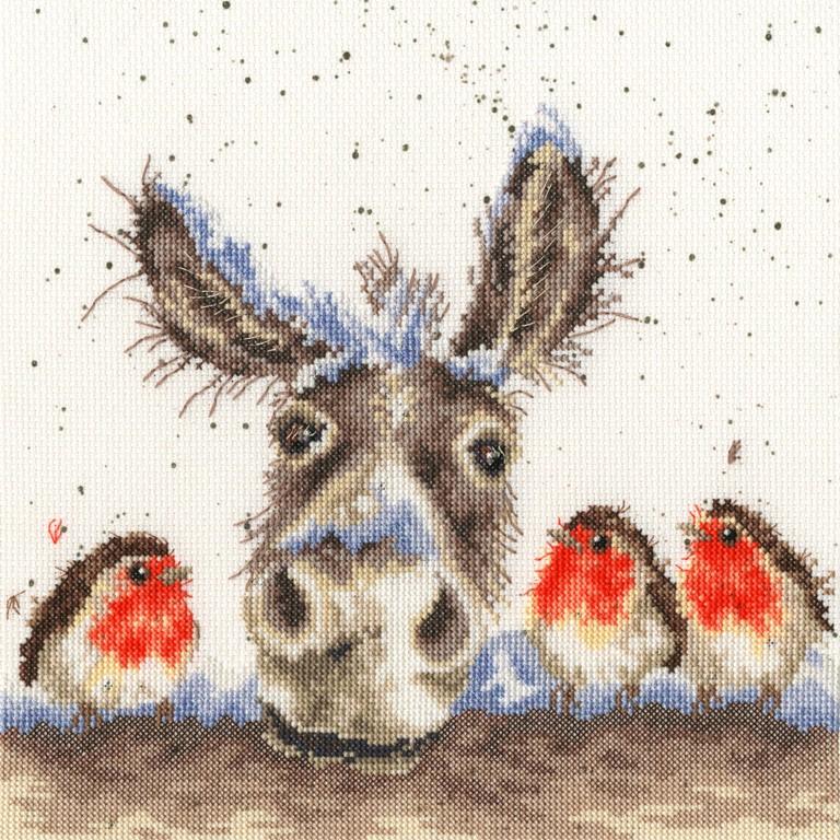 Christmas Donkey Counted Cross Stitch Kit
