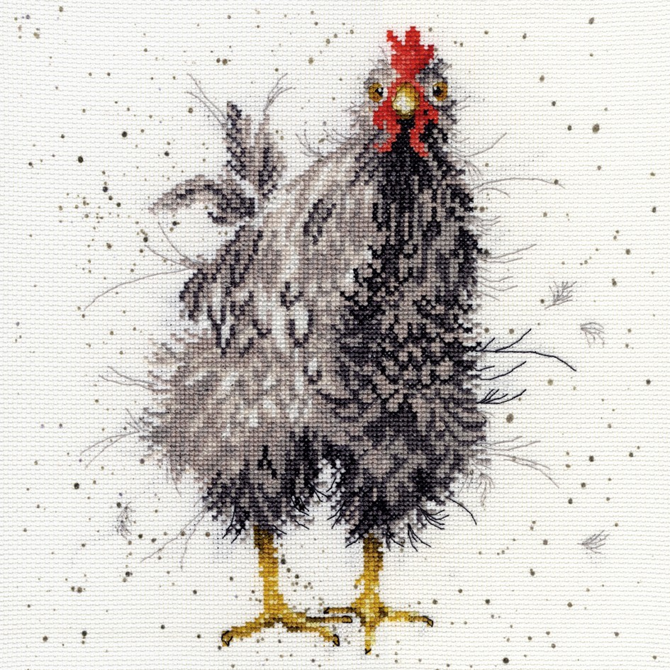 Curious Hen Counted Cross Stitch Kit