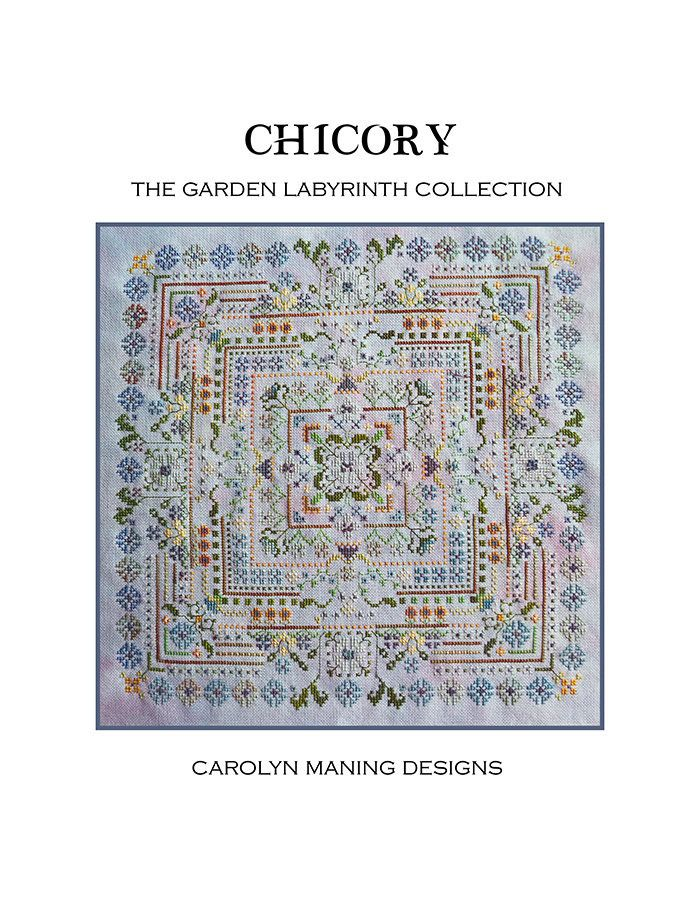 Garden Labyrinth Chicory Counted Cross Stitch Chart