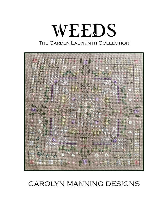 Garden Labyrinth Weeds Counted Cross Stitch Chart