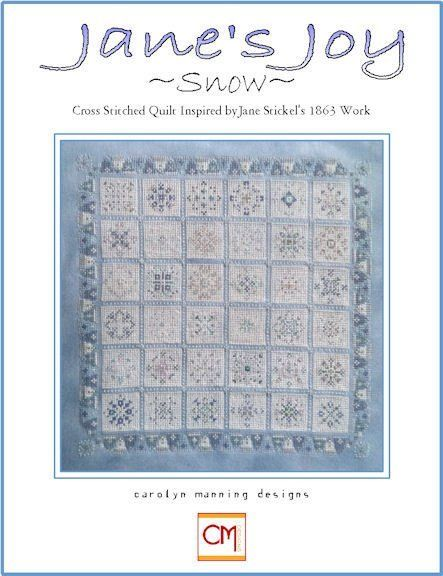 Jane's Joy Snow Quilt Counted Cross Stitch Chart
