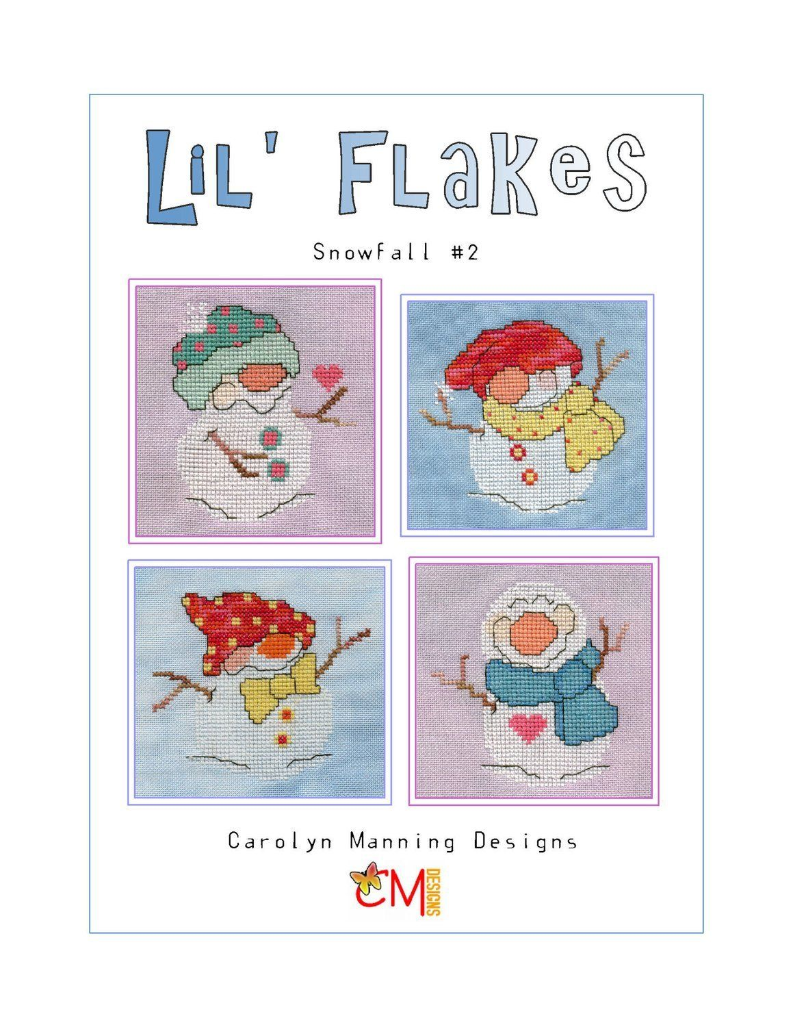 Lil' Flakes- Snowfall 2 Counted Cross Stitch Chart
