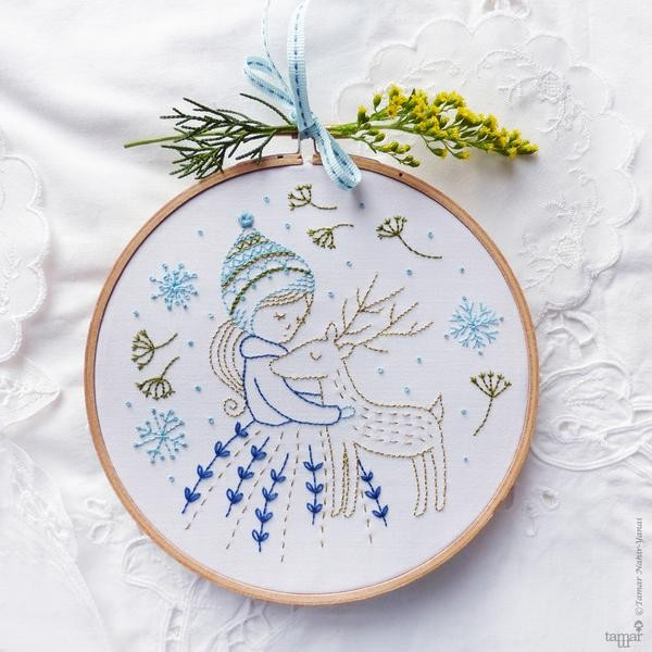 Golden Deer Embroidery Kit