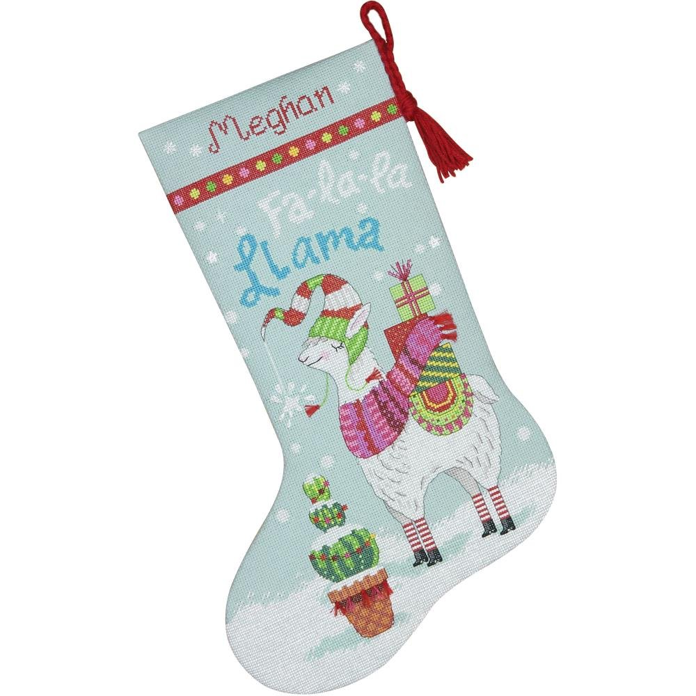 Llama Stocking Counted Cross Stitch Kit