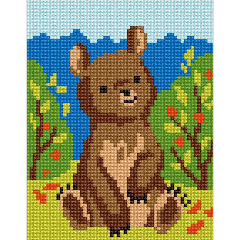 Bear Stamped Needlepoint Kit