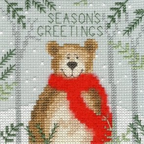 Christmas Bear Counted Cross Stitch Kit