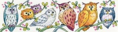 Owls on Parade - Karen Carter cross stitch chart