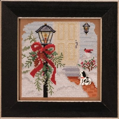 Christmas Welcome counted cross stitch kit