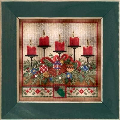 Holiday Glow counted cross stitch kit