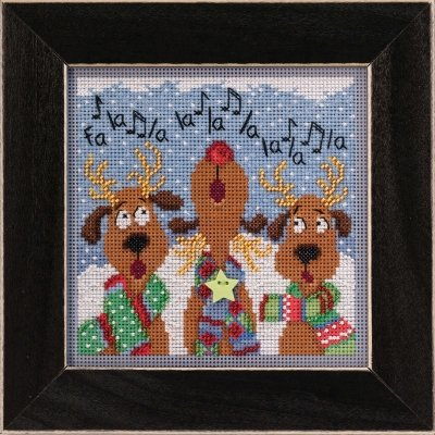 Reindeer Chorus counted cross stitch kit