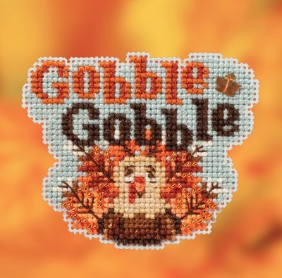 Gobble Gobble counted cross stitch ornament kit