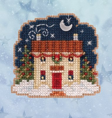 Christmas Eve counted cross stitch ornament kit