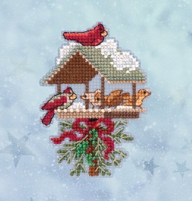 Winter Feast counted cross stitch ornament kit