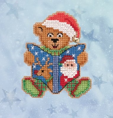 Teddy's Tale counted cross stitch ornament kit