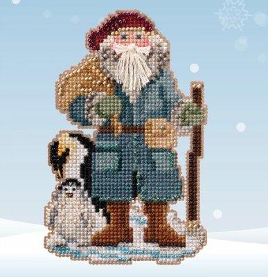 Penguin Santa counted cross stitch kit