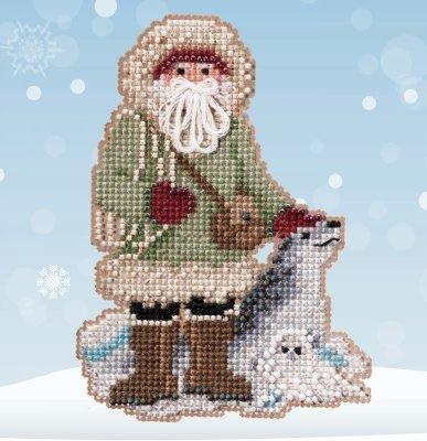 Leopard Seal Santa counted cross stitch kit