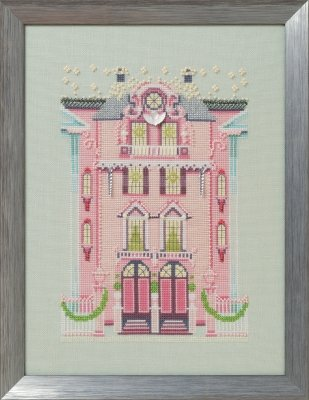 The Pink Edwardian House - Nora Corbett Holiday Village Chart