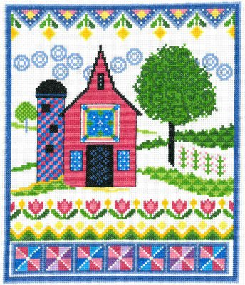 Barn with Spring Quilts 2805