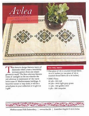 19-2442 Anatolian Argyle Table Runner