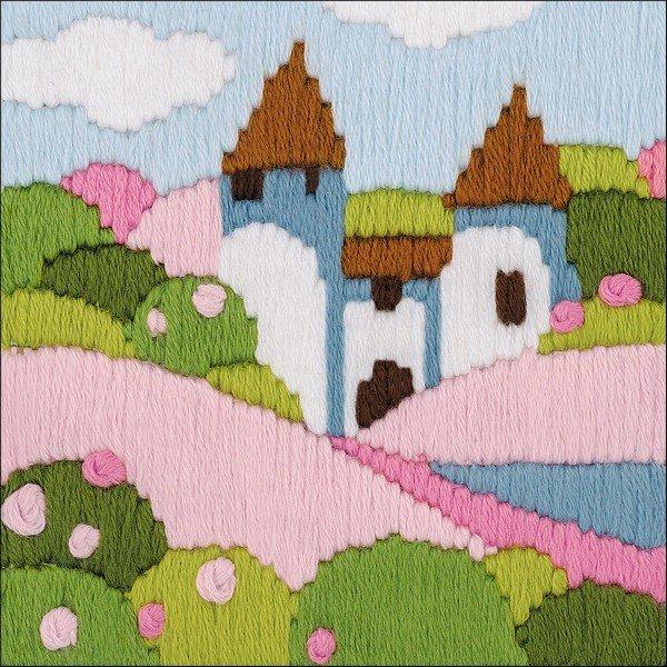 Pink Garden Riolis  Embroidery Kit 1572