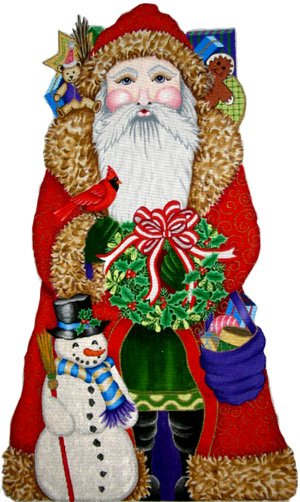 7023 Santa with Snowman