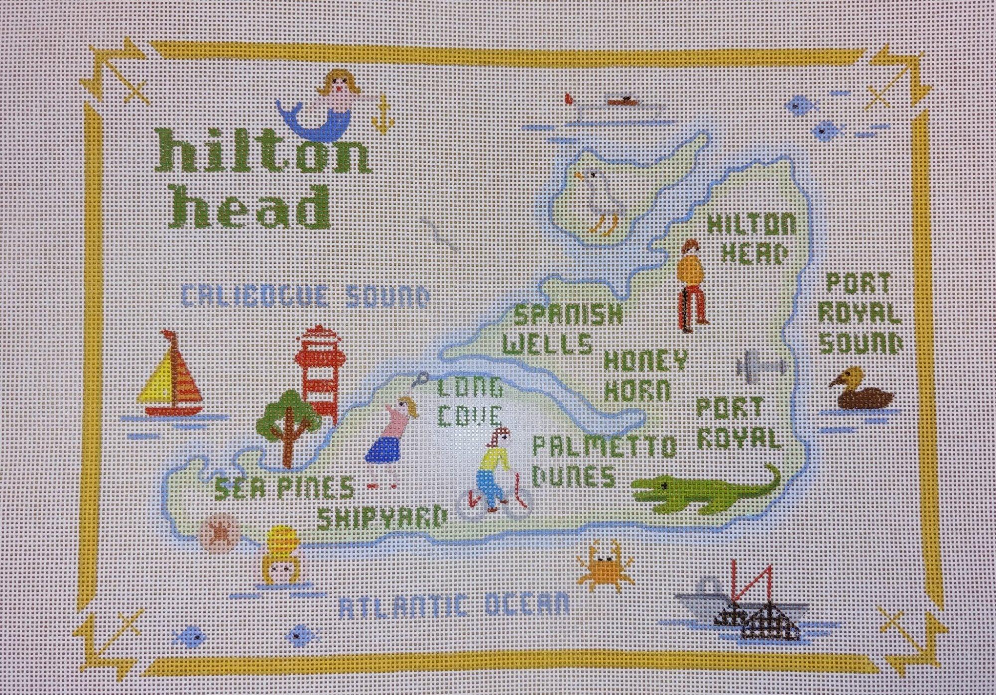 Annie Lee Hilton Head Island Map large